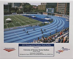 ASBA 2019 Distinguished Outdoor Track Facility