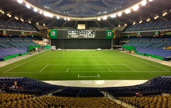 Terrains sportifs carpell surfaces installation de for Interieur sport rugby