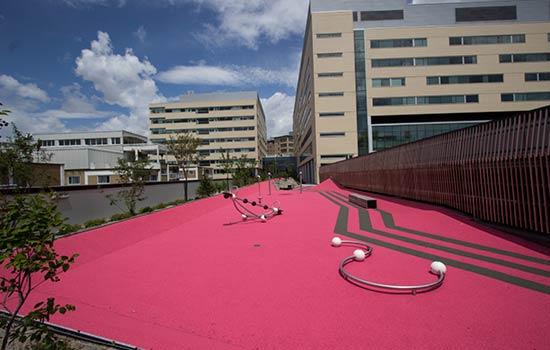 Carpell Surfaces   CHU Sainte-Justine Hospital walkway and