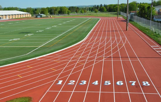 Athletic Track Install...
